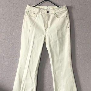 White Flare Bottom Pants